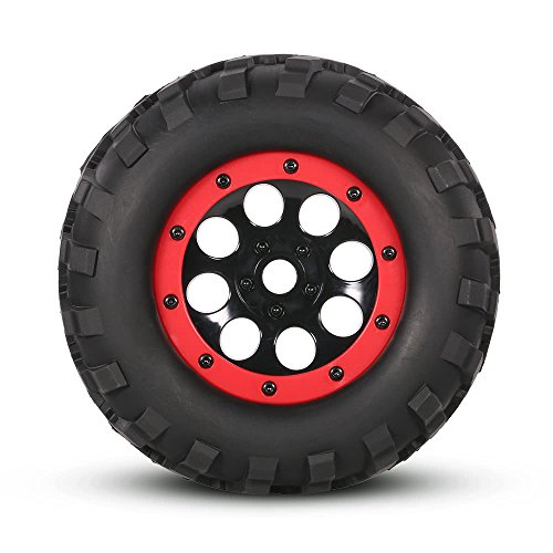 AppleLand 2Pcs AUSTAR AX-3011 155mm 1/8 Monster Truck Tires with Beadlock Wheel Rim for TRAXXAS Summit E-Revo HPI Savage XL Flux HSP RC Car - Quarkscm