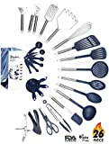 Kitchen Utensil Set - 26 Nonstick Stainless Steel Kitchen Gadgets & Tool Set. BPA Free Cooking Utensils Cookware Set. Spatula, Potato Masher, Tongs. Best Kitchen Utensils Gifts for him her - ÉLEVER
