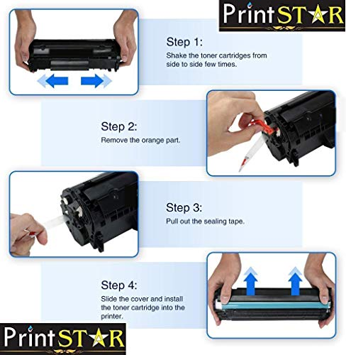 Print Star 88A Single Colour Black Laser Toner Cartridge of HP CC388A Compatible with HP Laserjet P1106, P1108, 1136, 1213, 1216, 9107, 1008 (Pack of 1)