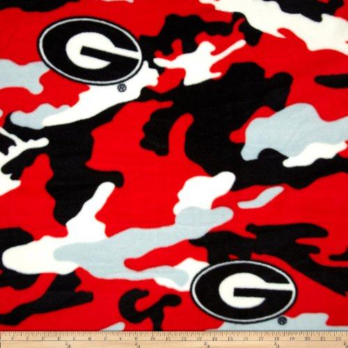 Sykel Enterprises Collegiate Fleece University of Georgia Camo Fabric by The Yard