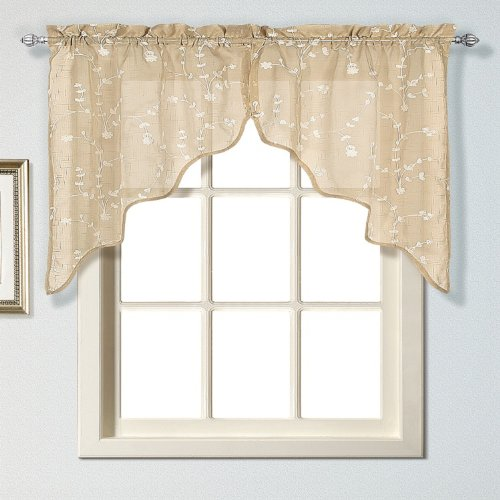 United Curtain Savannah Swags, 51 by 38-Inch, Taupe, Set of - Swag One