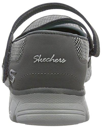 0 Femme Mary Jane EZ Gris Ccl Stopover Flex Skechers 3 xqAwUXt10