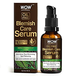WOW Skin Science Blemish Care Serum – OIL FREE – Anti Acne, Spot Reducing – No Parabens, Silicones, Synthetic Fragrance…