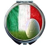 Rikki Knight Italy Soccer grunge wall Design Round Compact Mirror