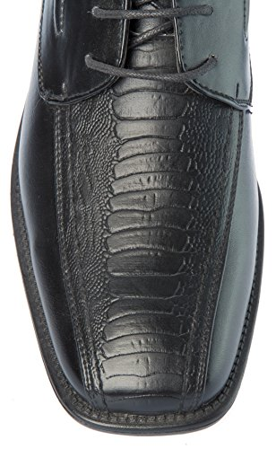 Derby Mens Fellini Black Church Dress Alberto Shoes Formal Wedding Or Up Office Patten Other PU Event Lace Work For Party Leather Croc Skin d4wdqI