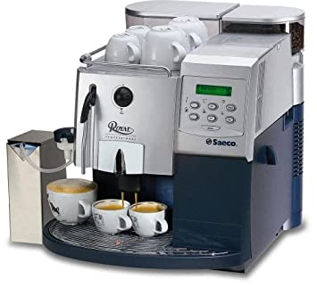 saeco royal fully automatic espresso machine silver and blue