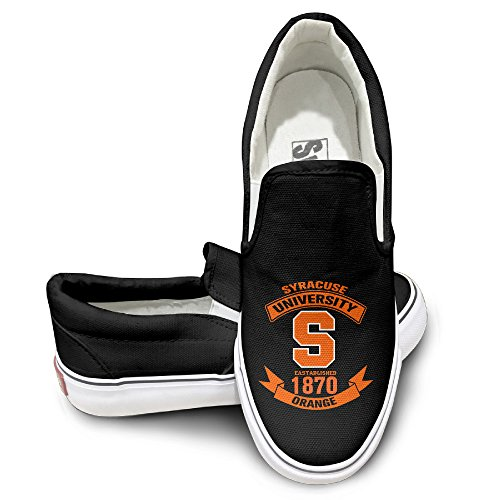 MGTER66 Syracuse University Football Fashion Slip-On Casual Sneaker Unisex Style Color Black Size 35