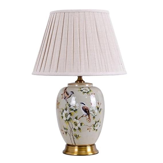 Lu Tischlampe Kupfer American Keramik Schreibtisch Licht Wohnzimmer