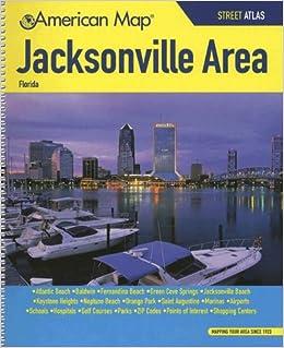 Map Jacksonville Florida.American Map Jacksonville Florida American Map Corp 9780841601390