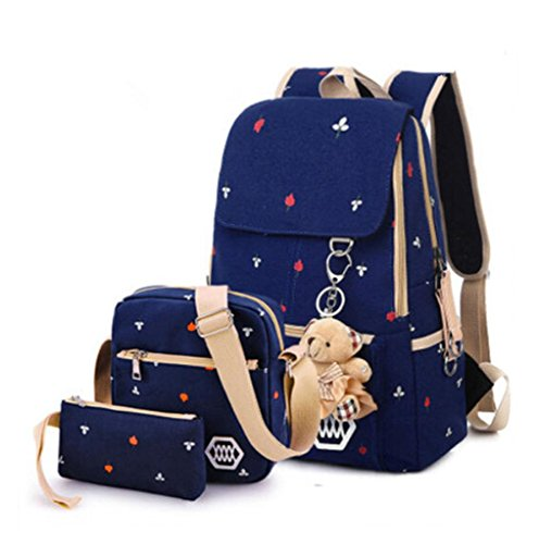 Casual Style Lightweight Canvas Laptop Backpack for School Laptop Messenger Bag for 14.1-inch Pc Macbook Pro Fits All Ipad Generations Including Ipad4 - Fashion Cute Travel School College Shoulder Bag  Bookbags  Daypack