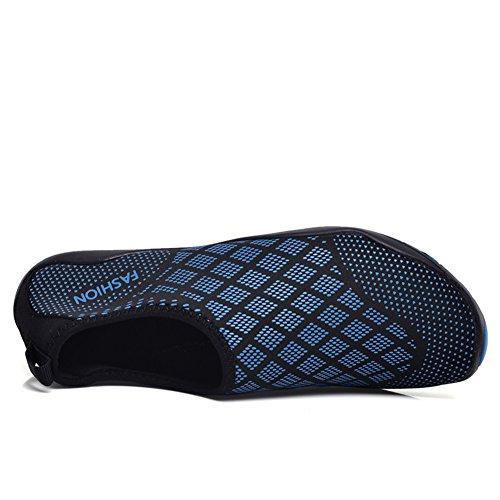 Strandschuhe Leicht Rutschfeste Herren Unisex Barfußschuhe Badeschuhe Tauchen Für blau Damen Schwimmen Atmungsaktiv Wasserschuhe 08 YYrfq