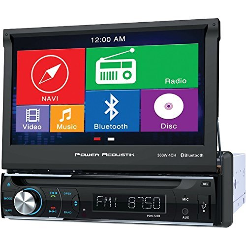 The BEST POWER ACOUSTIK 7'' 1DIN GPS RCVR W/BLTH by Generic