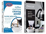 Urnex Coffee and Espresso Machine Descaler and Cleaner Combo - Activated Scale Remover Use With Home Coffee Brewers Espresso Machines Pod Machines Capsule Machines Kettles Garmet Steamers