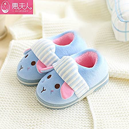 Children with cotton slippers parent-child indoor warm thick autumn and  winter home baby shoes adf4c5b266