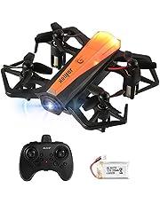 HELIFAR Mini Drone, H802 RC Drone Niños Estabilización de Altitud, Modo sin Cabeza, 3 Modos de Velocidad 4 Canales 6-Ejes, Juguete Drone para niños Adultos (Dos baterías)