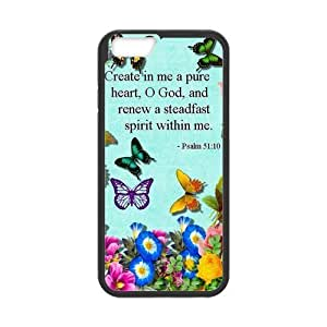 iPhone 6 Protective Case - Bible Verse Psalm 51:10 Hardshell Cell Phone Cover Case for New iPhone 6