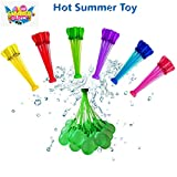 self-Sealing Water Balloons Rapid Refill, Quick Fill Magic Balloons Summer Toys Water Fighting Toys for Kids Girls Boys Adults,No Odor (Water Balloon Self-Sealing)