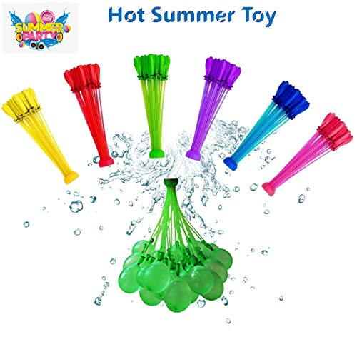 self-Sealing Water Balloons Rapid Refill, Quick Fill Magic Balloons Summer Toys Water Fighting Toys for Kids Girls Boys Adults,No Odor, Swimming Pool Summer Outdoor Water Toy Gifts 222pcs 6 Color
