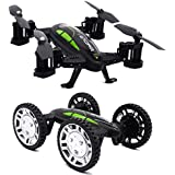 Tecesy FY602 2.4Ghz RC Car and RC Quadcopter Dual Modes Indoor Outdoor Flying Car Drone, Easy to Fly