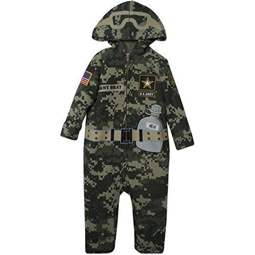 US Army Uniform Baby Costume Coverall with Digital Camo and Hood (18-24 Months) - Baby Army Uniform