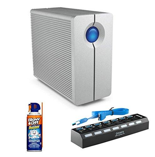 lacie 2big quadra usb 3 0 10tb hard drive with blow off air duster cleaner 7 port. Black Bedroom Furniture Sets. Home Design Ideas