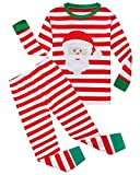 Boys Stripe Christmas Pajamas 100% Cotton Toddler