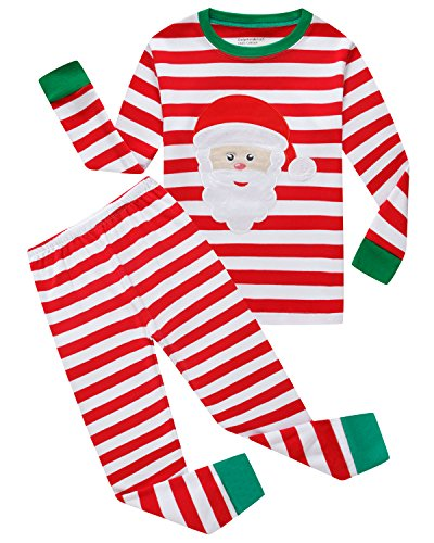 Boys and Girls Christmas Pajamas Cotton Shirts Toddler Clothes Kids Pjs Sleepwear Size 4T -