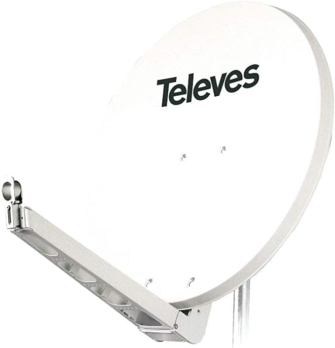 Televes 790204 - Antena parabolica Off-Set Aluminio Disco 850 Blanco