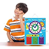 PrimePac- Educational Toy for Preschool & Toddlers. This Wall Clock Learning System will teach the Metric System. Memorial Day Sale. First Time Kids Clock for Telling Time. School Clock Early Learning