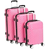 Best Suitcases Sets - AmazonBasics Geometric Luggage Expandable Suitcase Spinner - 3 Review