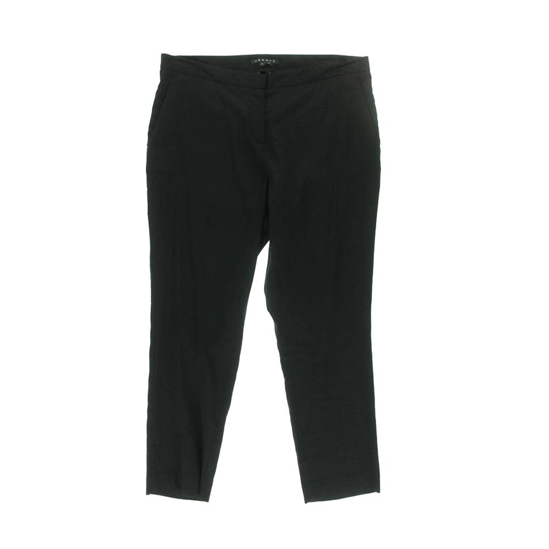 Theory Black Straight-Leg Pants Msrp: