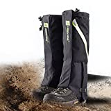 IC ICLOVER Snow Gaiters 600D Oxford Waterproof Heavy Duty Leg Boot Cover Anti Bite/Dust/Mud/Rock/Thorns for Hunting Hiking Skiing Camping Climbing Breathable High Gaiters Leg Protection Guard BKL