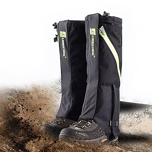 Snake Proof Gaiters (Outdoor Hunting Leggings, IC ICLOVER Heavy Duty Breathable Leg Gaiters Prevent Insect Bite, Against Sharp Rocks & Thorns Protective Guardz Guards for Hiking Skiing Climbing and Camping)