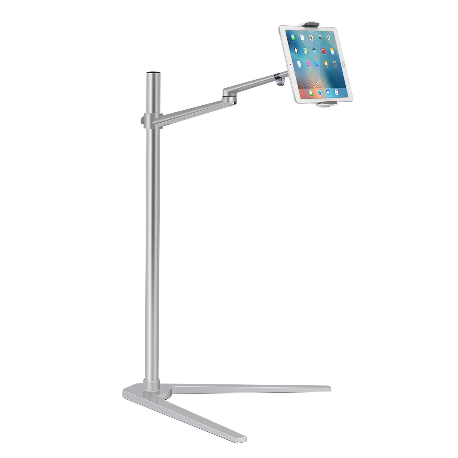 Viozon Tablet Floor Stand, Holder for iPad,Applicable to3.5~6inch Smart Phone and 7~13 inch Tablet Such as iPad, iPhone X, iPad Pro,iPad Mini, iPad Air 1-2 / iPad 2-4 (Silver) by Viozon