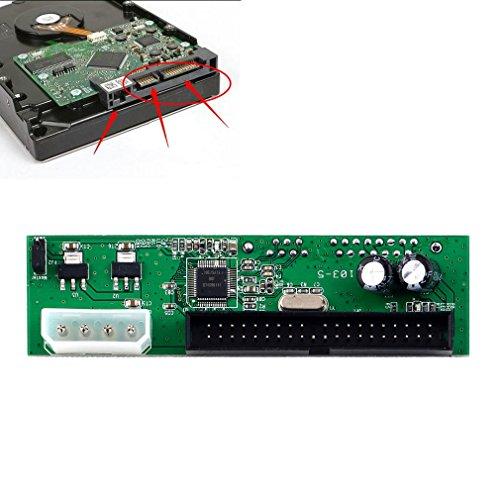 PATA Computer to SATA Hard Drive Interface Adapter for PC and Mac,SATA TO PATA IDE Converter Adapter Plug Play Module Support 7+15 Pin 3.5/2.5 SATA HDD DVD Adapter ()