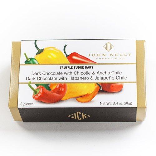 Truffle Fudge Chile Bars by John Kelly (3.4 ounce) (California Brownie Chocolate)