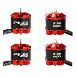nidici 4pcs 1106 4000KV Brushless Motor 2-3S FPV Motor for FPV 90-130mm Micro Quadcopter Drone 2030 2035 2540 Propeller