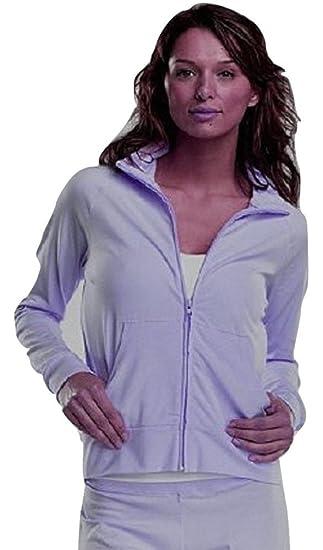 977b8379 Cotton Yoga Jacket full zip up lightweight ladies: Amazon.co.uk ...