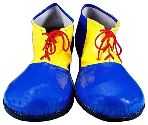 Forum Novelties Children's Sized Clown Shoes, Blue and Yellow, Small