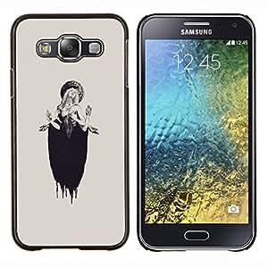 """S-type Lucia Mujer Beige Tinta Profunda"""" - Arte & diseño plástico duro Fundas Cover Cubre Hard Case Cover For Samsung Galaxy E5 E500"""