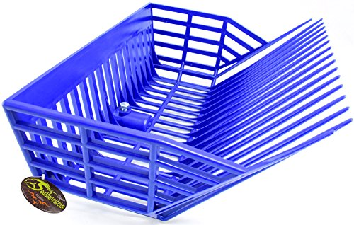 Southwestern Equine Universal Manure Fork Head 'Catch-All Deep Basket', Blue