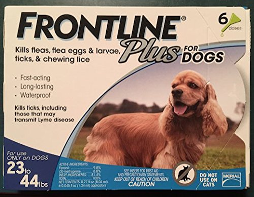 Frontline Plus for dogs 23-44 lbs 6 Doses by Merial