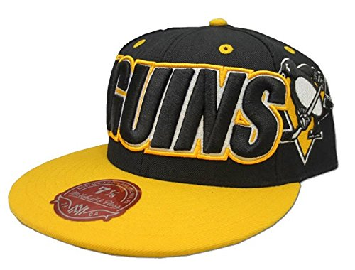 Pittsburgh Penguins NHL Mitchell & Ness Black/Gold Fitted Hat - 7 1/8