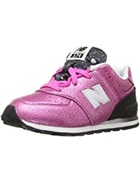New Balance KL574V1 Infant Core Plus Fashion Sneaker (Infant/Toddler), Grey/Pink, 17 M EU