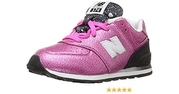 d6348516f0a1a Amazon.com | New Balance KL574V1 Infant Gradient Pack Fashion Sneaker  (Infant/Toddler), Pink/Black, 4 M US Toddler | Sneakers