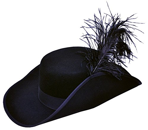 Cavalier Hat Quality Costume with Feather