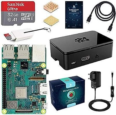 LABISTS Raspberry Pi 3 B+ Starter Kit con Micro SD de 32GB Clase 10, 5V 3A