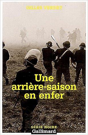 Une arrière-saison en enfer - Gilles Verdet sur Bookys