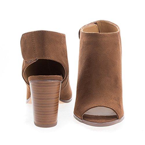 Sandali Con Cinturino E Tallone A Punta Aperta