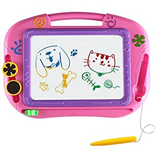 AMZCARS Magna Drawing Doodle Board Gifts Toys Age for 3 Year Old Girl,Magnetic Drawing Board Erasable Writing Sketch Pad Birthday Present for Toddler Kids Toy for Little Girls Travel Games